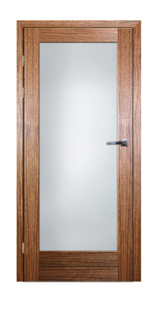 Drzwi pokojowe drewniane z przeszkleniem mlecznym Gremzdy 1Is - Drzwi CAL