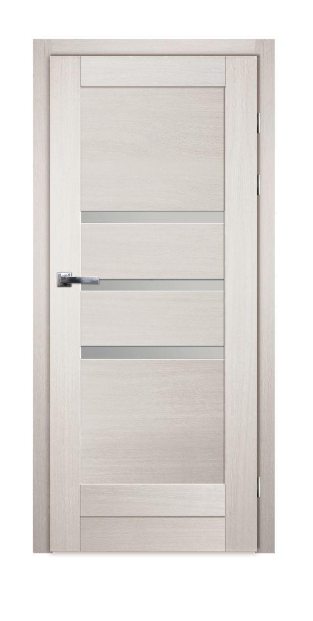 Dębowe drzwi z trzema przeszkleniami na środku Gremzdy 23 - Drzwi CAL