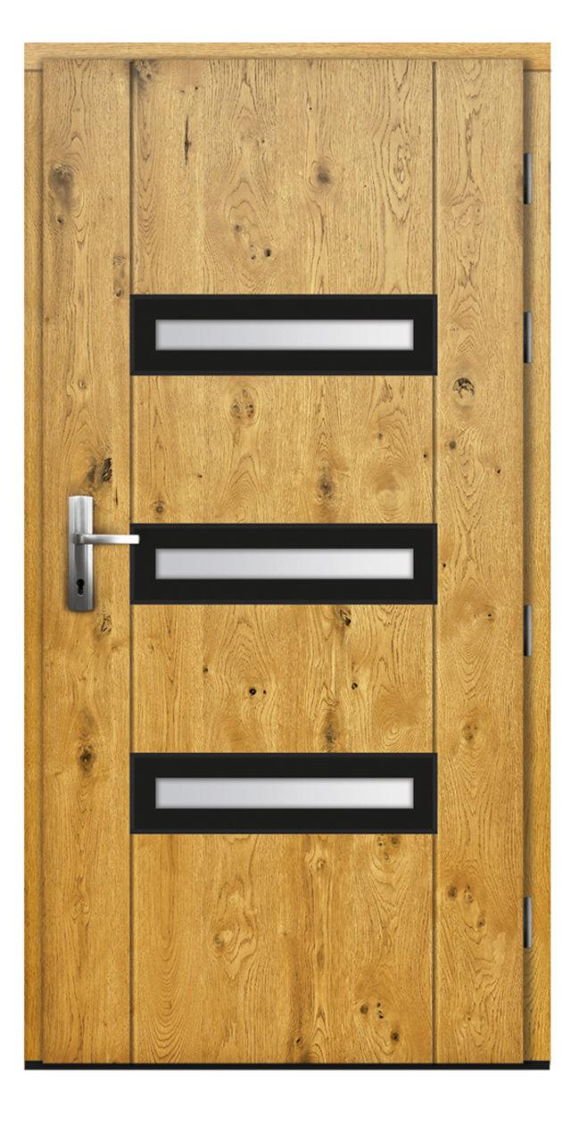 Pasywne drzwi zewnętrzne z przeszkleniem Katherine