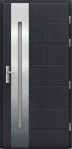 Antracytowe drzwi wejściowe