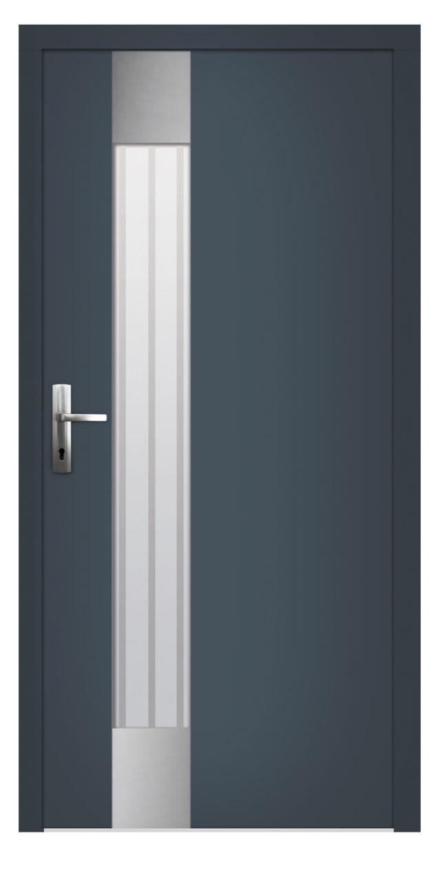 Drzwi wejściowe z lustrem weneckim