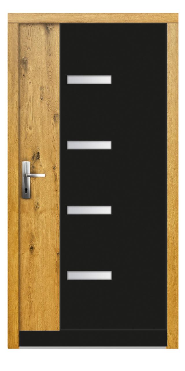 Drzwi wejściowe z dużym akcentem szklanym Sophia