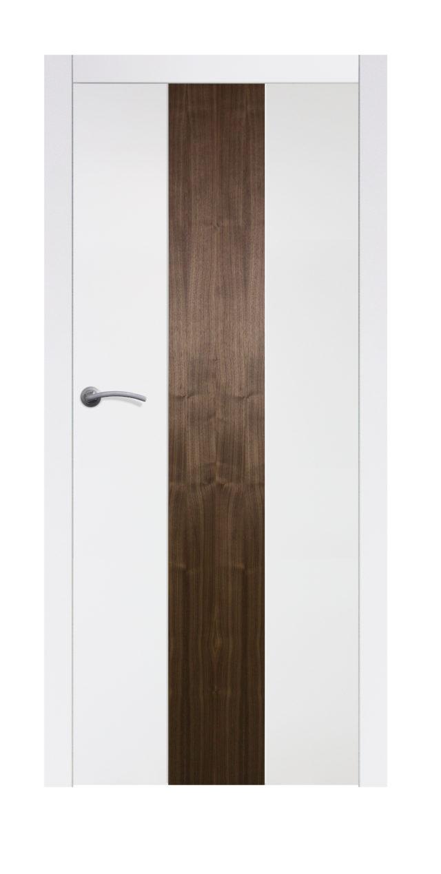 Proste pełne drzwi drewniane z wstawką na środku Boksze 01 - Drzwi CAL