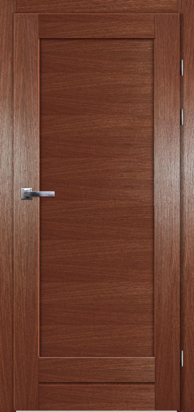 Dębowe pełne drzwi pokojowe Gremzdy - Drzwi CAL