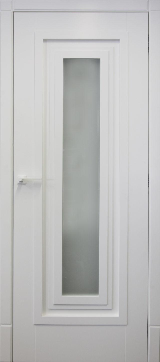 Drzwi kandela białe z szybą