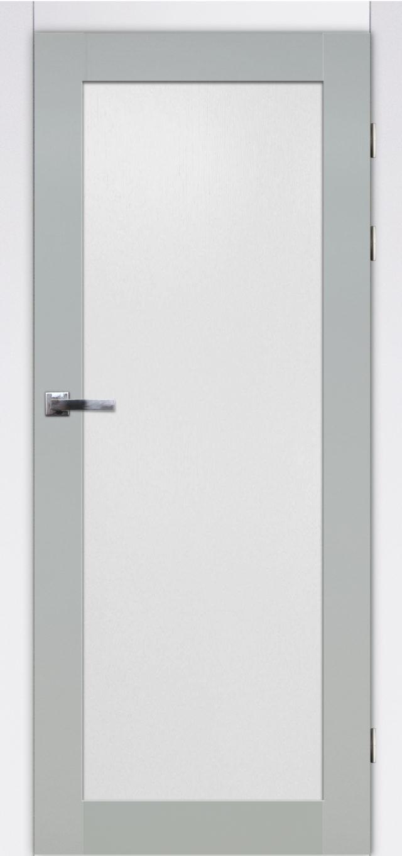 Przeszklone nowoczesne drzwi wewnętrzne Okmin 1s - Drzwi CAL