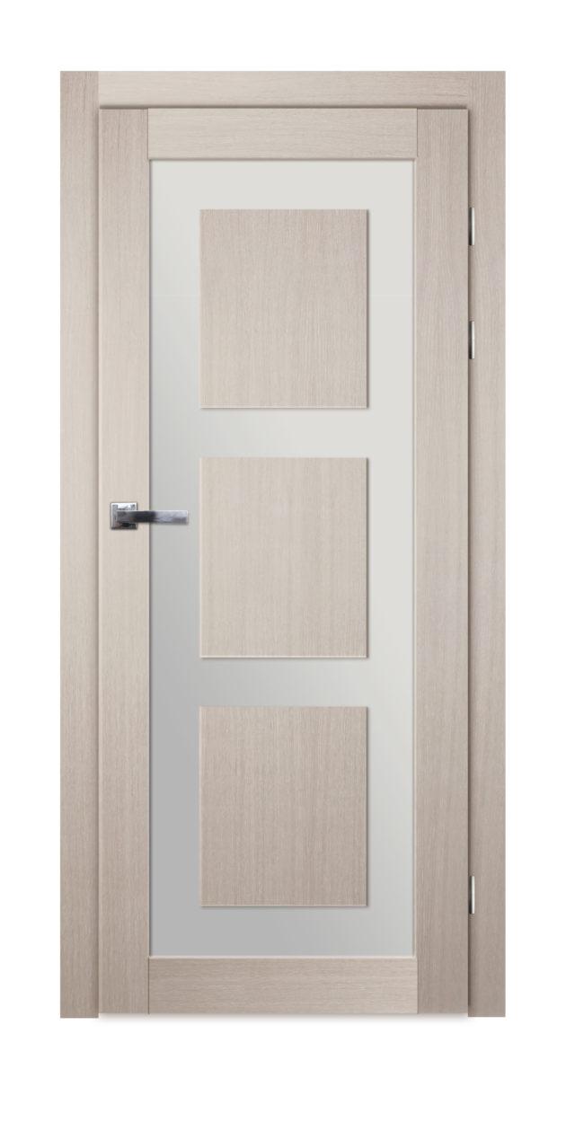 Nowoczesne drzwi pokojowe z oryginalnym przeszkleniem Okmin 3p - Drzwi CAL