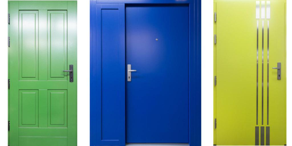 kolorowe drzwi zewnętrzne CAL
