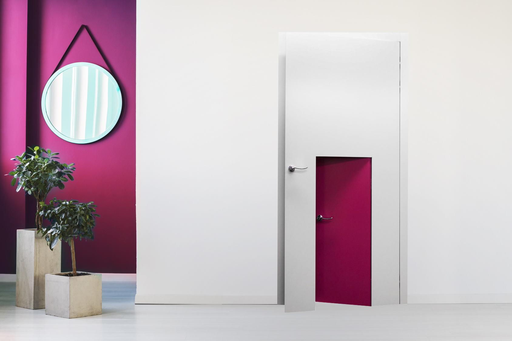 Drzwi w drzwiach do pokoju dziecka