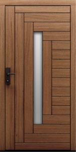 Drzwi zewnętrzne z widocznym deskowaniem oraz przeszkleniem Fago - Drzwi CAL