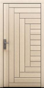 Drzwi zewnętrzne drewniane z bielonym dębem Karpeno - Drzwi CAL