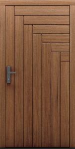Drzwi zewnętrzne z widocznymi dębowymi deskami Pino - Drzwi CAL