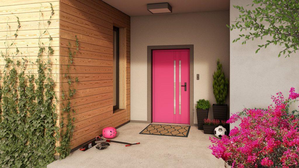 Aranżacja drzwi zewnętrznych do stylu elewacji