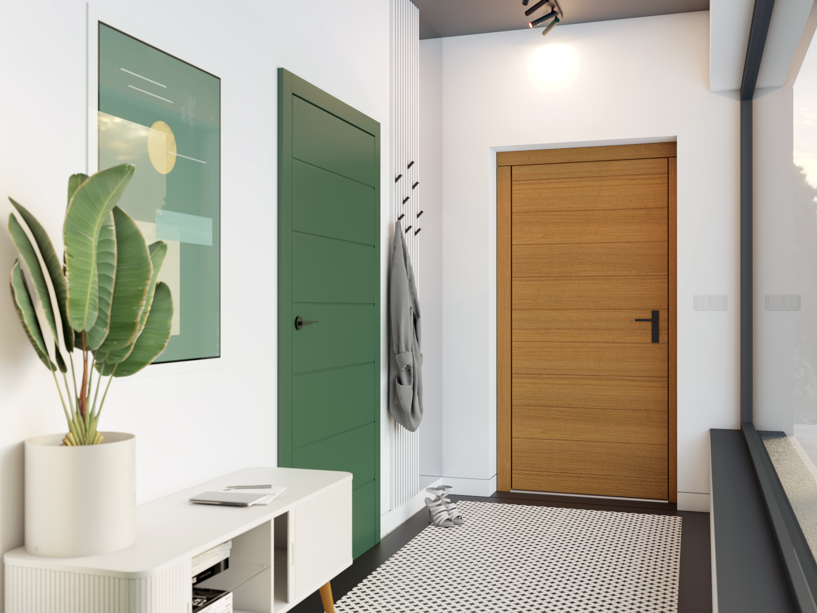 drzwi minimalistyczne