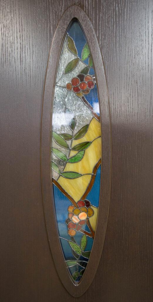 witraż w drzwiach